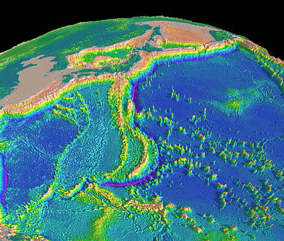 Mariana Photograph - Mariana Trench Sea Floor Topography by Us Geological Survey