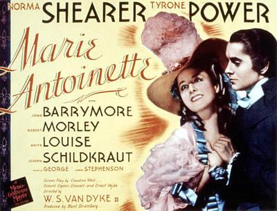 Marie Antoinette, Norma Shearer, Tyrone Art Print by Everett