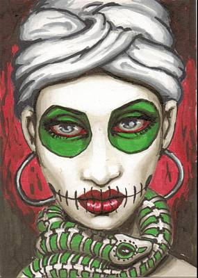 Voodoo Painting - Marie Laveau by Shayne of the  Dead