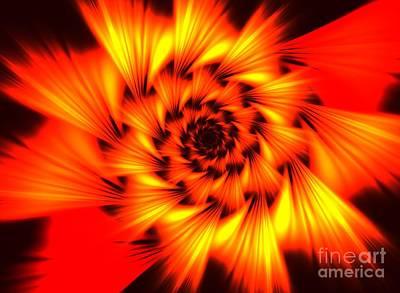 Kim Digital Art - Marigold by Kim Sy Ok