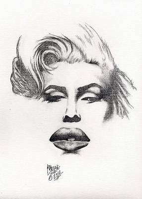 1950 Movies Drawing - Marilyn by Audrey Snead