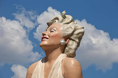 Deva Photograph - Marilyn In The Clouds by Matthew Bamberg