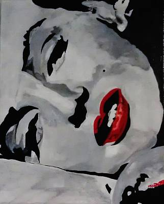 Painting - Marilyn by Michael Henzel