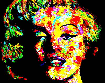 Obriens Painting - Marilyn by Mike OBrien