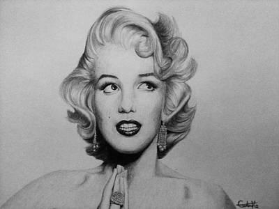 Marilyn Monroe 2 Print by Carlos Velasquez Art