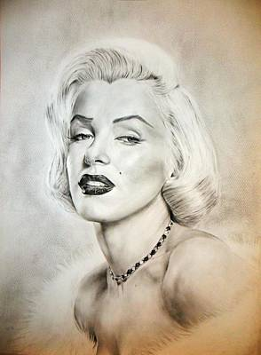 Marylin Painting - Marilyn Monroe by Attila Paszternak