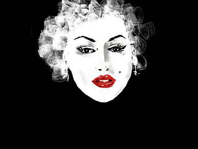 Art Print featuring the digital art Marilyn Monroe by Rc Rcd