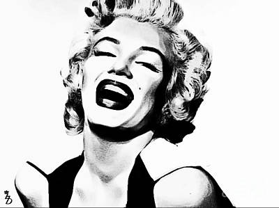 Gentlemen Prefer Blondes Digital Art - Marilyn Monroe by The DigArtisT