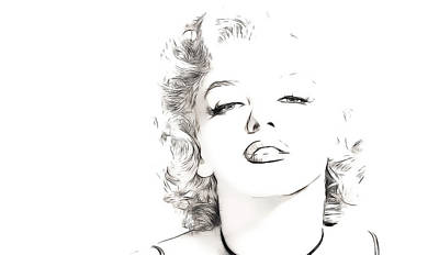 Marilyn Monroe Art Print by Tilly Williams