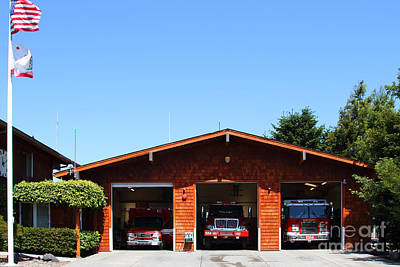 Marin County Fire Department . Point Reyes California . 7d15919 Print by Wingsdomain Art and Photography