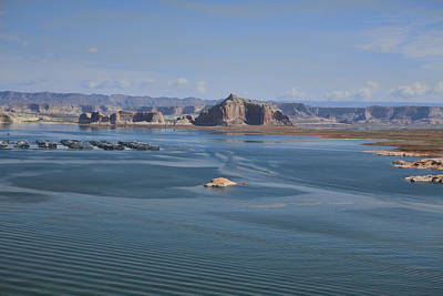 Photograph - Marina And Castle Rock On Lake Powell by Gregory Scott