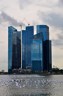 Photograph - Marina Bay Financial Centre by Chua  ChinLeng