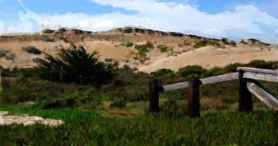 Digital Art - Marina Beach Park Sand Dunes by Jim Pavelle