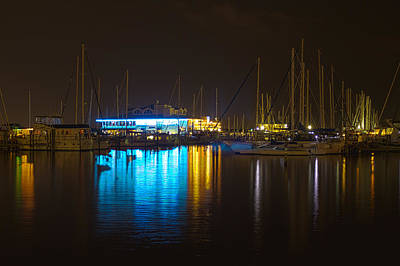 Photograph - Marina Night by Nicholas Evans