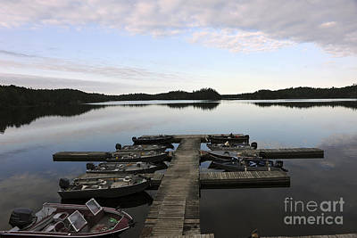 Photograph - Marina Northern Lake Canada by Dan Friend