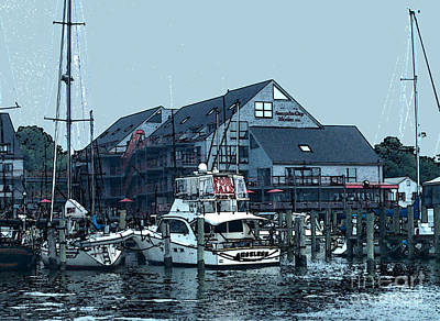Painting - Marina On Chesapeake Bay by Elinor Mavor
