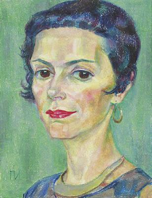 Paper Painting - Marina Orlova by Leonid Petrushin