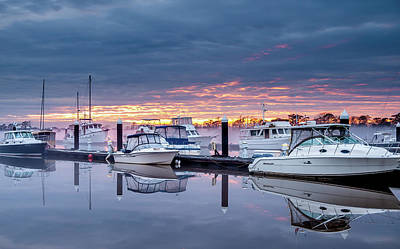 Photograph - Marina Sunset by Mike Covington