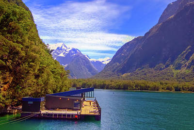 Photograph - Marine Mammal Research Outpost Milford Sound by Harry Strharsky