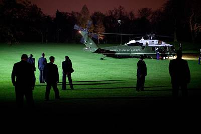 Marine One Carrying President Art Print by Everett