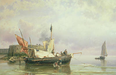 Marine Scene  Art Print by Hermanus Koekkoek