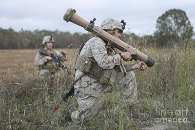 Hamels Photograph - Marines Conduct A Simulated Attack by Stocktrek Images