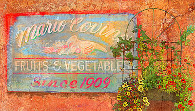 Abstract Realism Digital Art - Mario Covings Fruits And Vegs 1909 by Jeff Burgess