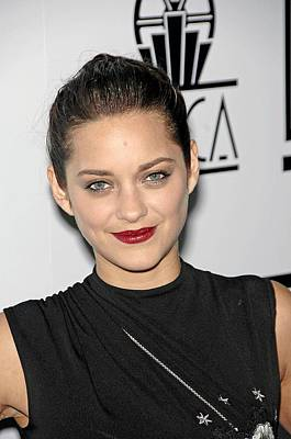 Hair Bun Photograph - Marion Cotillard At Arrivals For Los by Everett