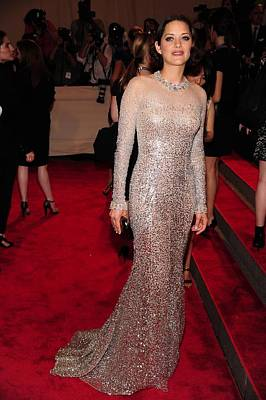 Marion Cotillard Wearing A Silver Art Print by Everett