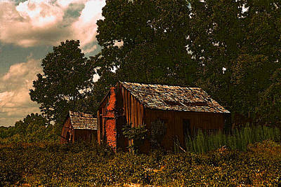 Digital Art - Marion Post Wolcott's Abandoned Shacks by Timothy Bulone