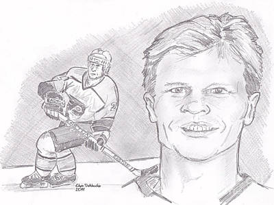 Mark Howe Print by Chris  DelVecchio