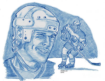 Drawing - Mark Messier by Chris  DelVecchio