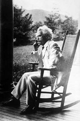 Mark Twain Aka Samuel L. Clemens Print by Everett