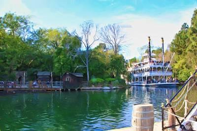 Photograph - Mark Twain Riverboat At Disneyland by Heidi Smith