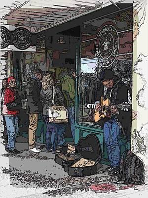 Market Busker 3 Art Print by Tim Allen