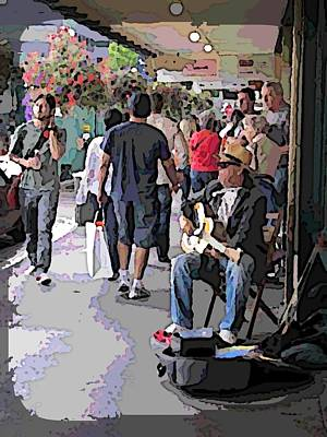 Farmers Market Digital Art - Market Busker by Tim Allen