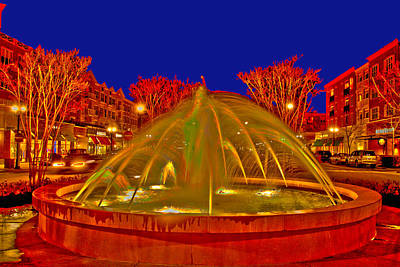 Photograph - Market Common Fountain  by Bill Barber