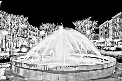 Photograph - Market Common Fountain Infrared by Bill Barber