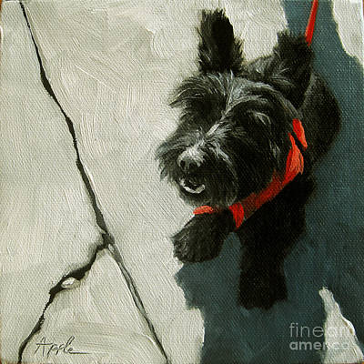 Market Day - Scottie Dog Art Print by Linda Apple