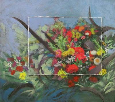 Mixed Media - Market Flowers by Anita Burgermeister