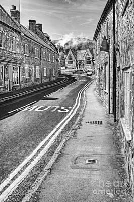 Market Street Abbotsbury Dorset Art Print by John Edwards
