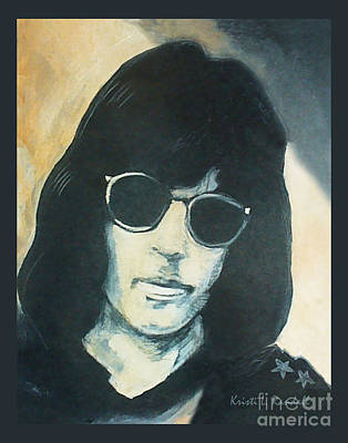 Painting - Marky Ramone The Ramones Portrait by Kristi L Randall