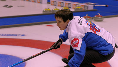 Marla Mallett At The 2009 Scotties Original by Lawrence Christopher