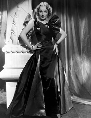 Marlene Dietrich Full Length Portrait Print by Everett