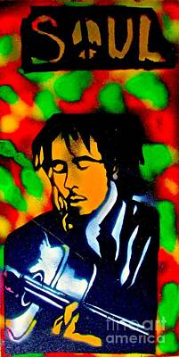Music Paintings - Marley Rasta Guitar by Tony B Conscious