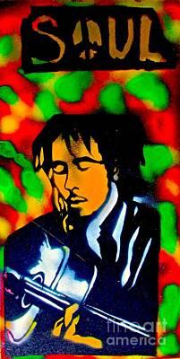 First Amendment Painting - Marley Rasta Guitar by Tony B Conscious