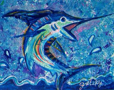 Bass Painting - Marlin by Paintings by Gretzky