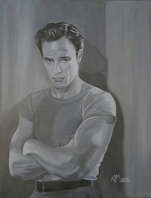 Painting - Marlon Brando by Antonio Marchese