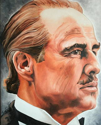 Portraits By Timothe Painting - Marlon Brando by Timothe Winstead