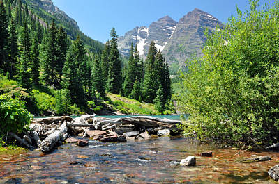 Photograph - Maroon Bells by Gene Sherrill